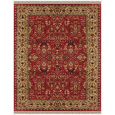 Astoria Grand Barcroft Red/Light Gold Area Rug; 5' x 8'