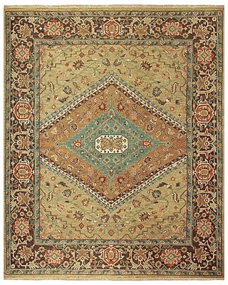 Astoria Grand Barney Brown/Tan Floral Area Rug; 7'9'' x 9'9''