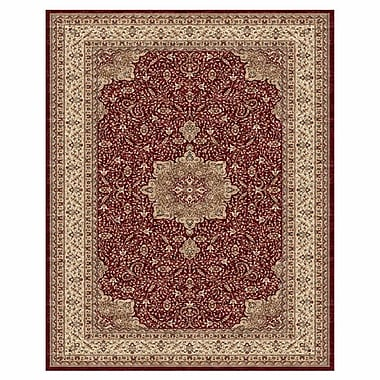 Astoria Grand Barden Red / Cream Rug; 9'1'' x 13'2''