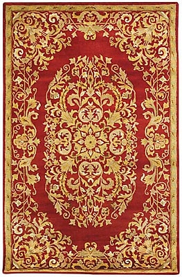 Astoria Grand Balthrop Red/Yellow Floral Area Rug; Runner 2'3'' x 14'