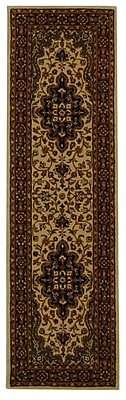 Astoria Grand Balthrop Ivory/Red Area Rug; Runner 2'3'' x 8'