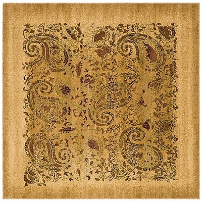 Astoria Grand Barton Beige Area Rug; Square 7'