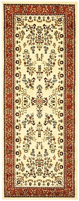 Astoria Grand Barton Rust/Ivory Area Rug; Runner 2'3'' x 6'