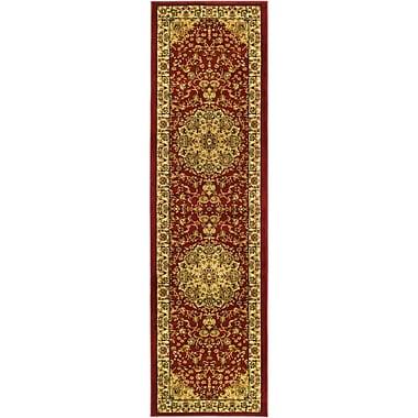 Astoria Grand Barton Red/Ivory Rug; Square 6'