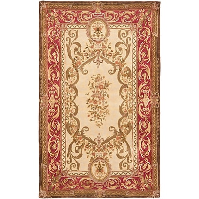 Astoria Grand Loren Gold/Red Area Rug; 4' x 6'