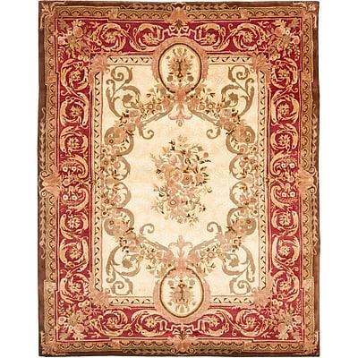 Astoria Grand Loren Gold/Red Area Rug; 8' x 10'