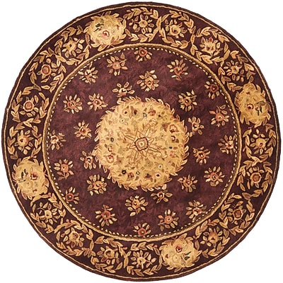 Astoria Grand Loren Burgundy Area Rug; Round 6'