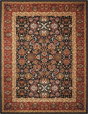 Astoria Grand Charleson Red/Black Area Rug; 7'9'' x 9'9''