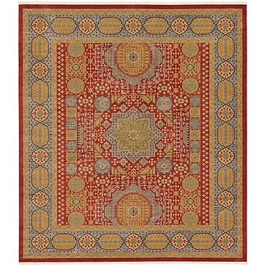 Astoria Grand Laurelwood Light Red Area Rug; 10' x 11'4''