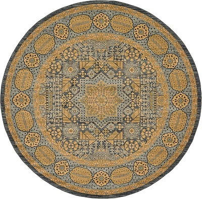 Astoria Grand Laurelwood Brown Area Rug; Round 8'