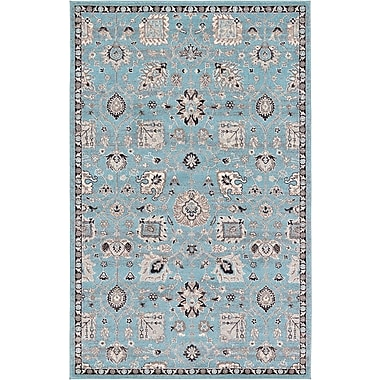 Astoria Grand Edinburgh Light Blue Area Rug; 5' x 8'