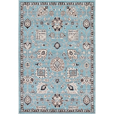 Astoria Grand Edinburgh Light Blue Area Rug; 4' x 6'