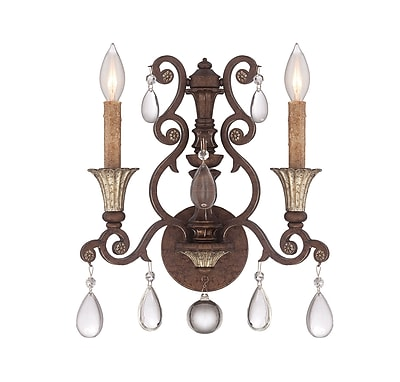 Astoria Grand Fairgrove 2-Light Candle Wall Light