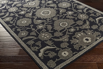 Astoria Grand Alden Hand-Tufted Navy Area Rug; 9' x 13'