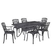Astoria Grand Frontenac 7 Piece Dining Set; Charcoal