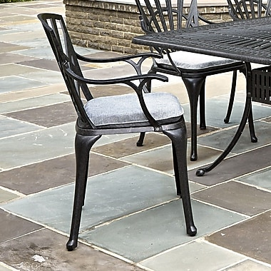 Astoria Grand Frontenac Dining Arm Chair w/ Cushion (Set of 2)