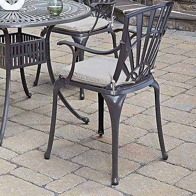 Astoria Grand Frontenac Patio Dining Chair w/ Cushion (Set of 2)