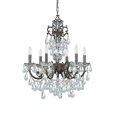 Astoria Grand Markenfield 6-Light Crystal Chandelier; Swarovski Spectra