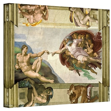 Astoria Grand The Creation of Adam Painting Print on Canvas; 24'' H x 32'' W