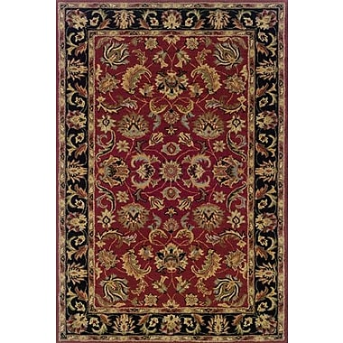 Astoria Grand Vinoy Hand-made Red/Black Area Rug; Runner 2'3'' x 8'