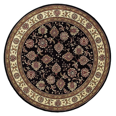 Astoria Grand Shelburne Brown/Ivory Area Rug; Round 8'
