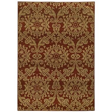 Astoria Grand Bovill Rust/Taupe Area Rug; 7'10'' x 10'10''