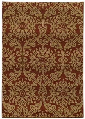 Astoria Grand Bovill Rust/Taupe Area Rug; 9'10'' x 12'10''