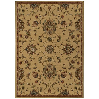 Astoria Grand Bovill Beige/Green Area Rug; 3'10'' x 5'5''