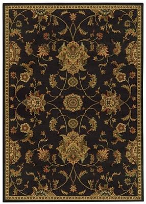 Astoria Grand Bovill Black/Green Area Rug; Rectangle 7'10'' x 10'10''