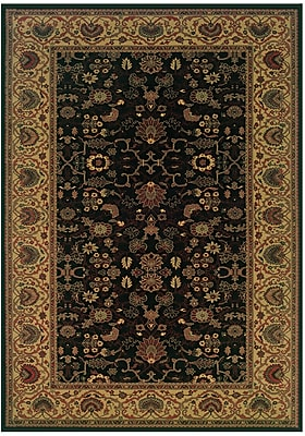 Astoria Grand Cipriani Black/Beige Area Rug; 9'2'' x 12'5''