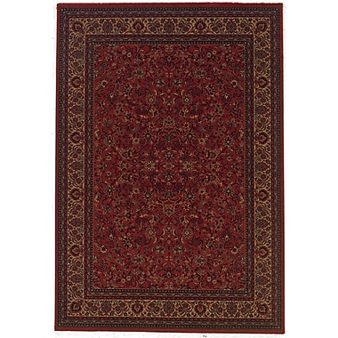 Astoria Grand Chivers Yellow/Crimson Area Rug; 5'3'' x 7'6''
