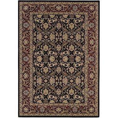 Astoria Grand Copacabana Hand-Woven Black/Yellow Area Rug; Runner 2'2'' x 7'6''