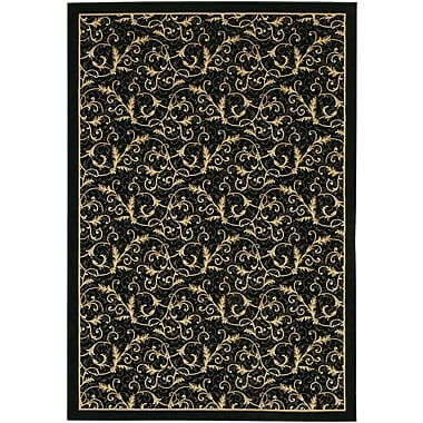 Astoria Grand Cipriani Yellow/Black Area Rug; 2' x 3'7''