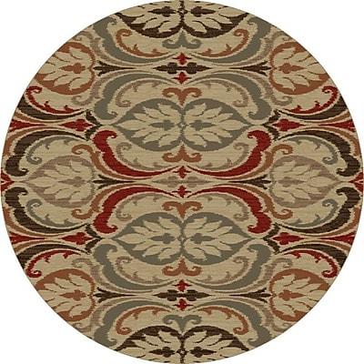 Astoria Grand Ikin Jewel Tone Firenze Rug; Round 5'3''