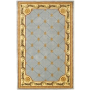 Astoria Grand Totternhoe Wedgewood Blue Fleur-De-Lis Outdoor Area Rug; 5'3'' x 8'3''