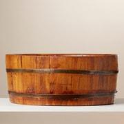August Grove Round Vintage Basin; Natural