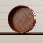 August Grove Round Vintage Basin; Red