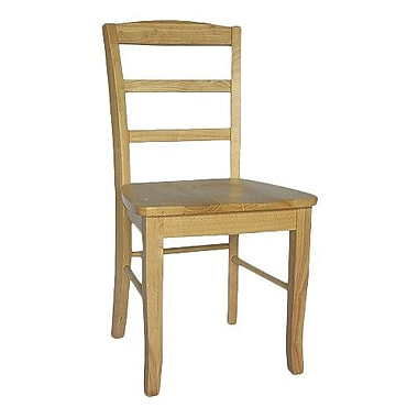 August Grove Brianne Ladderback Side Chair (Set of 2); Natural