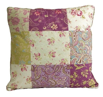 August Grove Ned Indoor/Outdoor Patchwork Pattern Cotton Throw Pillow