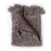 August Grove Melisande Throw Blanket; Taupe