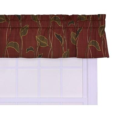 August Grove Gwendolyn Leaf and Vine 50'' Curtain Valance; Cinnamon
