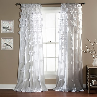 August Grove Harrietta Light-Filtering Single Curtain Panel; White
