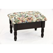 August Grove Cleo Queen Anne Style Storage Ottoman; Cherry