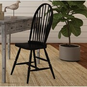 August Grove Camellia Windsor Chair; Antique Black