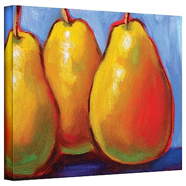 August Grove Gang of Pears Painting Print on Canvas; 24'' H x 36'' W