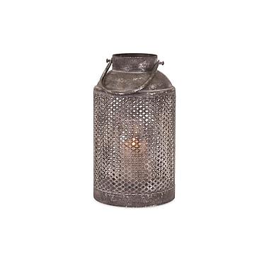 August Grove Ellendale Iron Lantern; Small (14'' H x 7.5'' W x 7.5'' D)
