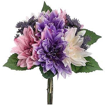 August Grove Taylor Dahlia Bouquet; Pink /