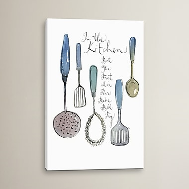 August Grove Kitchen Utensils Graphic Art on Wrapped Canvas; 18'' H x 12'' W x 1.5'' D