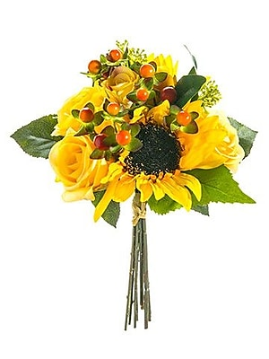 August Grove Chattahoochee Hills Sunflower Rose Bouquet