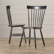 August Grove Zoie Spindle Back Side Chair (Set of 2)